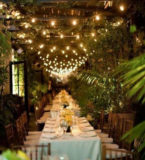 La iluminación en una boda