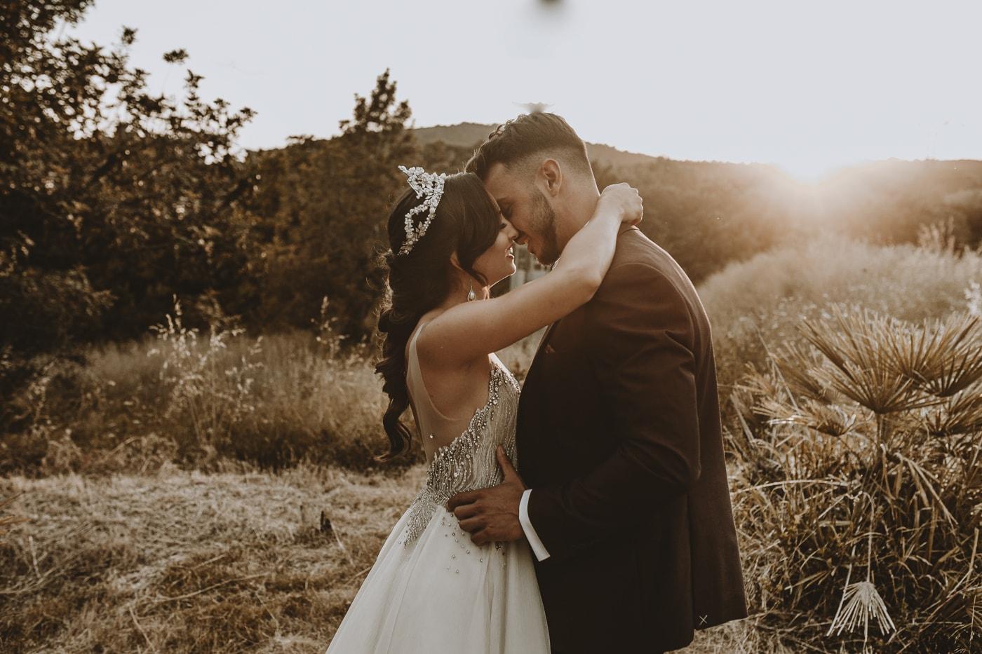 bodas al atardecer